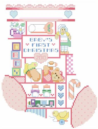 click here to view larger image of Baby Girl Christmas Stocking (chart)