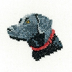 click here to view larger image of Black Labrador - Little Friends Collection (Kit) (counted cross stitch kit)