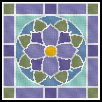 click here to view larger image of Stained Glass Square 2 (chart)