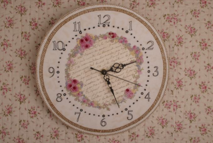 click here to view larger image of As Time Goes By Embroidered Clock (Faeries In My Garden) (chart)