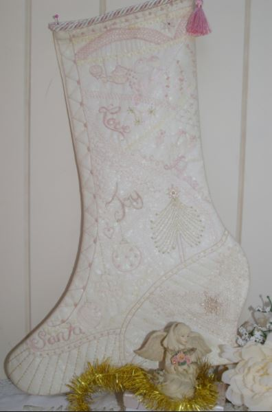 click here to view larger image of Sugar Plum Christmas Stocking (Faeries In My Garden) (chart)