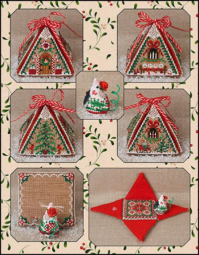 click here to view larger image of Christmas Mouse In A House - Limited Edition Kit (counted cross stitch kit)