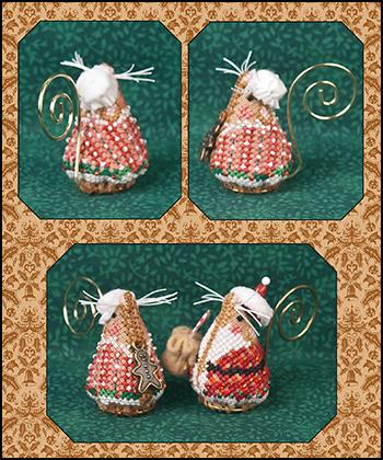 click here to view larger image of Gingerbread Mrs Santa Mouse - Limited Edition Kit (counted cross stitch kit)