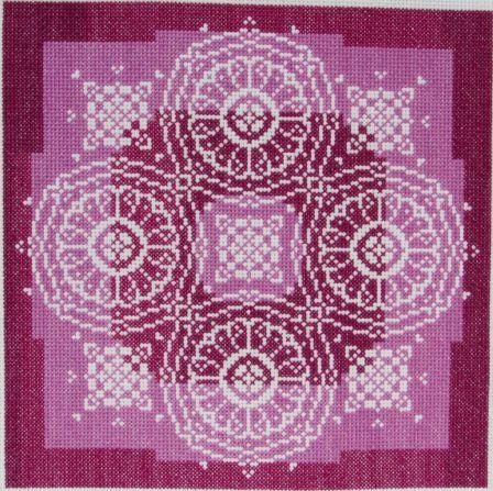 click here to view larger image of Lace Traces - Spun Plum (chart)