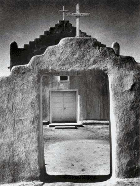 click here to view larger image of Church, Taos Pueblo, New Mexico - Ansel Adams (chart)