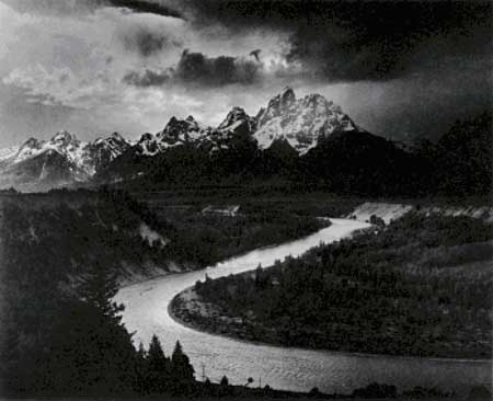 click here to view larger image of Tetons, The -- Snake River - Ansel Adams (chart)