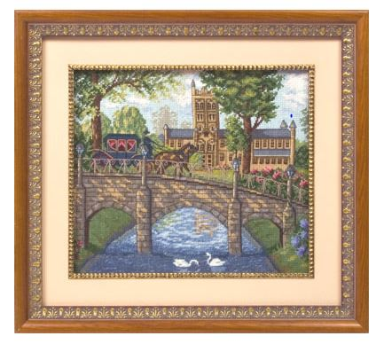 click here to view larger image of IS-1015 Old Bridge (counted cross stitch kit)