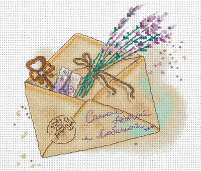 click here to view larger image of L-1863 Letter (counted cross stitch kit)
