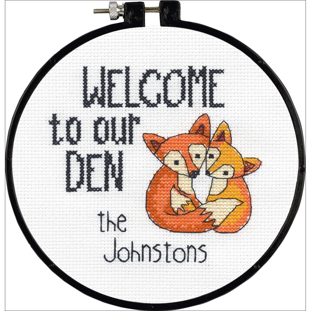 click here to view larger image of Our Den - Learn-a-Craft (counted cross stitch kit)