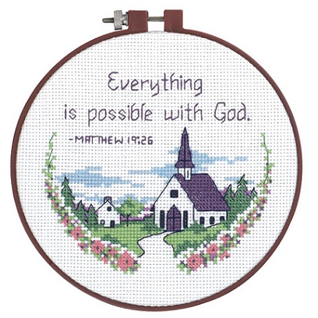 click here to view larger image of Everything Is Possible - Learn A Craft (counted cross stitch kit)