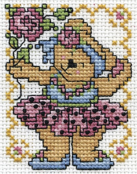 click here to view larger image of Ballerina Bear (counted cross stitch kit)
