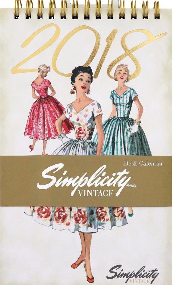 click here to view larger image of Simplicity Vintage 2018 Desk Calendar (book)