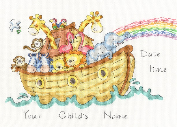 click here to view larger image of Baby Ark Sampler (counted cross stitch kit)