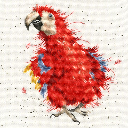 click here to view larger image of Parrot On Parade (counted cross stitch kit)