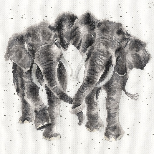 click here to view larger image of Age is Irrelephant - Hannah Dale (counted cross stitch kit)