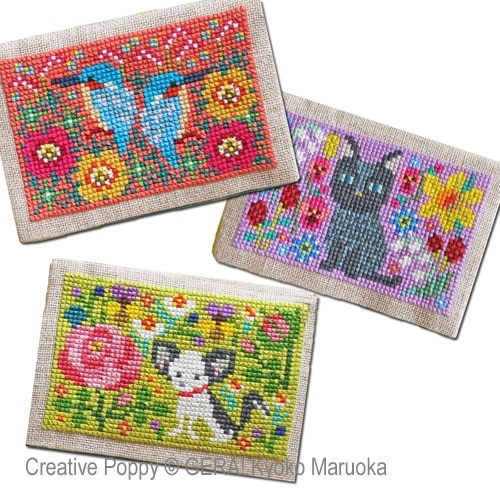 click here to view larger image of Card Cases With Flower Motifs #3 (chart)