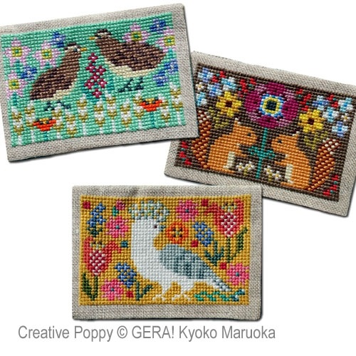 click here to view larger image of Card Cases With Flower Motifs #2 (chart)