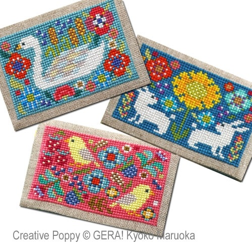 click here to view larger image of Card Cases With Flower Motifs #1 (chart)