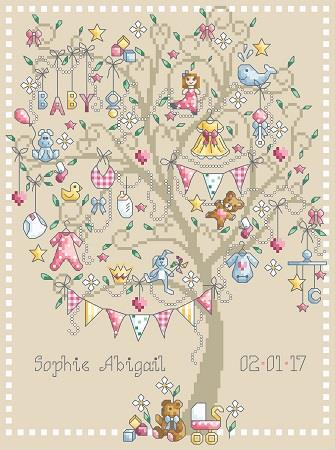 click here to view larger image of Baby Girl Tree (chart)