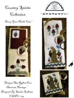 click here to view larger image of Berry Tyme Needle Case - Country Spirits Collection (chart)
