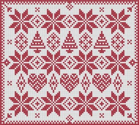click here to view larger image of Christmas Scandi Style Sampler (chart)