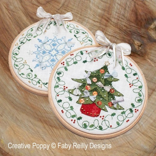 Tree & Snowflake Hoops (Ornaments) - click here for more details about chart