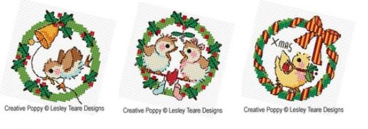click here to view larger image of Christmas Bird Wreaths (chart)