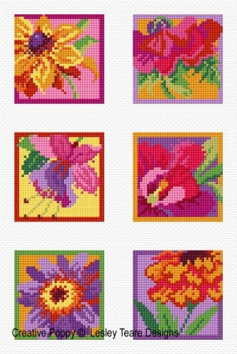 click here to view larger image of Colorful Florals (chart)
