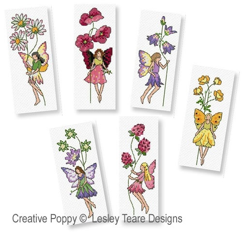 click here to view larger image of Flower Fairies (Greeting Cards and Bookmarks) (chart)