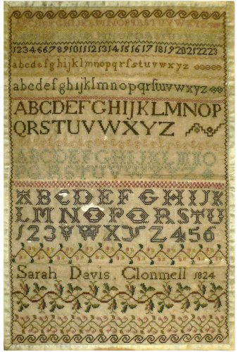 click here to view larger image of Sarah Davis Clonmel 1824 Reproduction Sampler (chart)