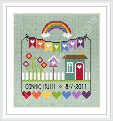 click here to view larger image of Rainbow Birth Sampler (chart)