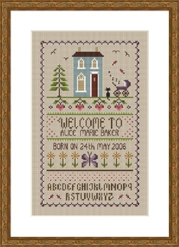 click here to view larger image of New Baby Sampler (chart)