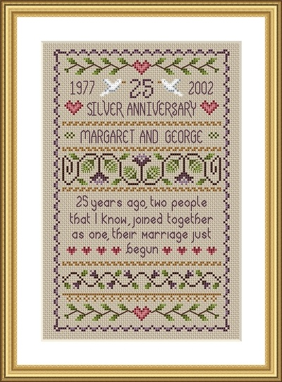 click here to view larger image of Silver Anniversary Sampler (chart)