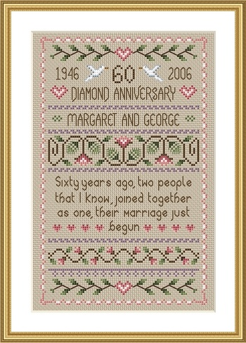 click here to view larger image of Diamond Anniversary Sampler (chart)