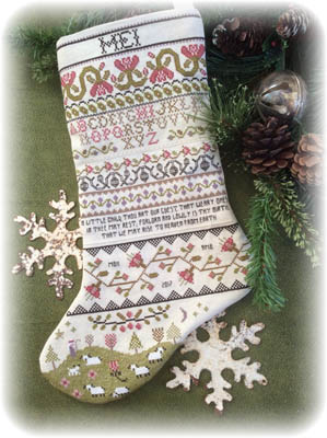 click here to view larger image of Band Sampler Stocking (chart)