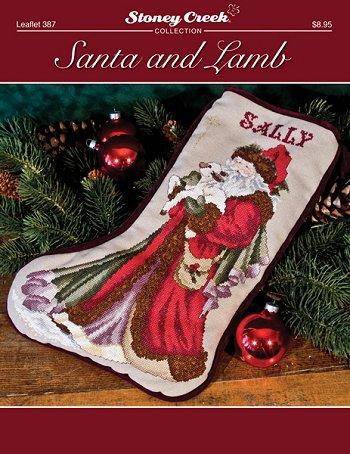 click here to view larger image of Santa and Lamb Stocking (chart)