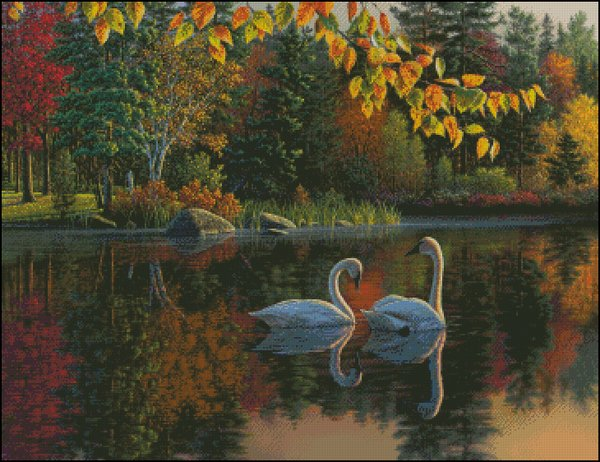 click here to view larger image of Autumn Swans (chart)