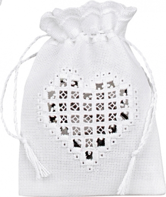 click here to view larger image of Heart Bag (Hardanger and Cut Work)