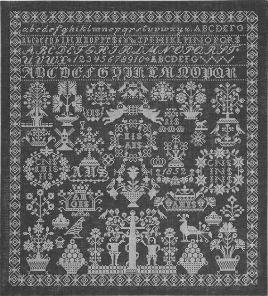 click here to view larger image of Grey Namecloth (counted cross stitch kit)