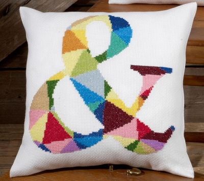 click here to view larger image of & (Ampersand) Pillow (counted cross stitch kit)