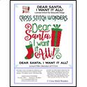click here to view larger image of Dear Santa I Want it All (chart)