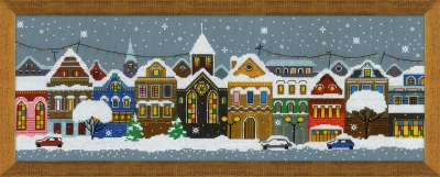 click here to view larger image of Christmas City (counted cross stitch kit)