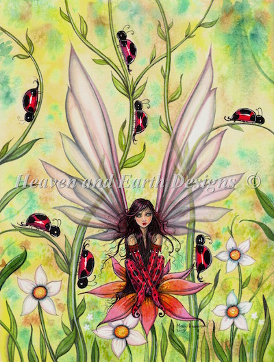 click here to view larger image of Mini Ladybug Fairy (chart)