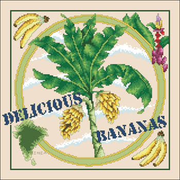 click here to view larger image of Delicious Bananas (counted cross stitch kit)
