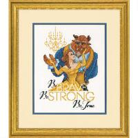 click here to view larger image of Be Brave - Beauty and the Beast (counted cross stitch kit)