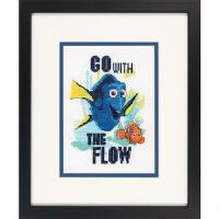 click here to view larger image of Go with the Flow - Finding Dory (counted cross stitch kit)