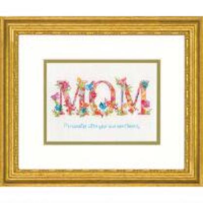 click here to view larger image of Mom - 14 count (counted cross stitch kit)