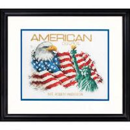 click here to view larger image of American Patriot - 14 count (counted cross stitch kit)