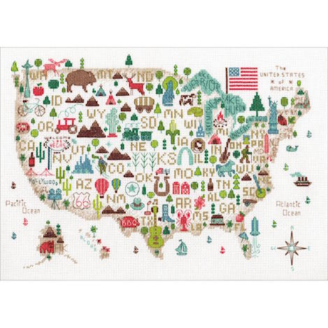 click here to view larger image of Illustrated Life - 14 count (counted cross stitch kit)
