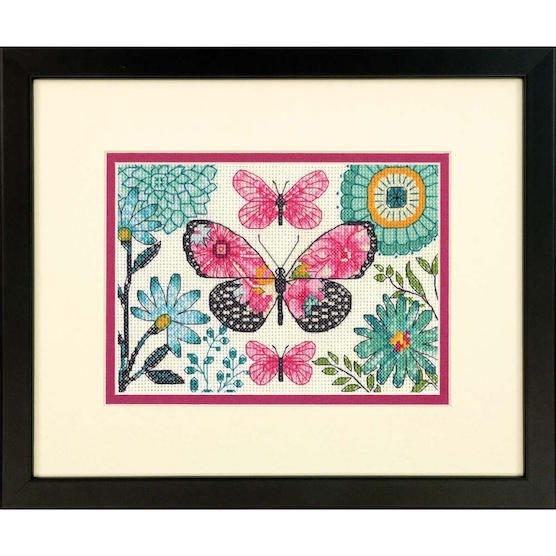 click here to view larger image of Butterfly Dream - 14 count (counted cross stitch kit)